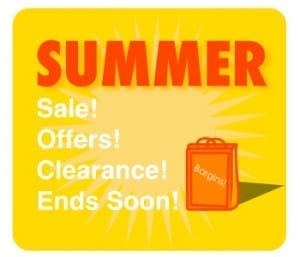 Summer Sale Advert in Yellow