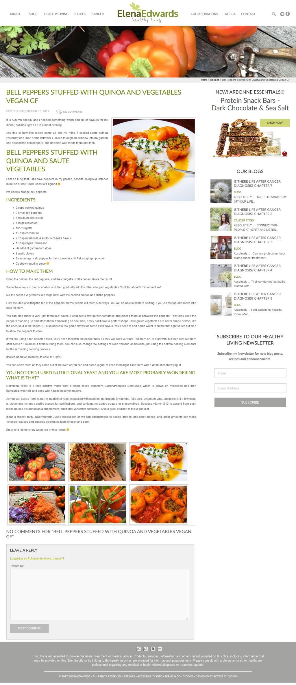 elenaedwards.com screenshot by Access by Design 01243 776399