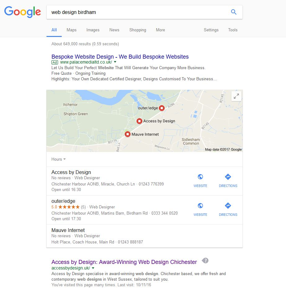 \'web design birdham - Google Search