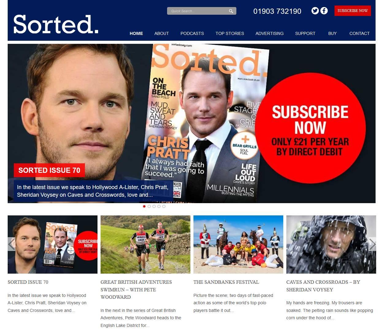 Sorted Magazine Computer Screenshot