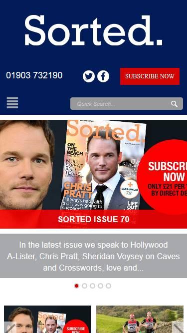 Sorted Magazine Mobile Screenshot