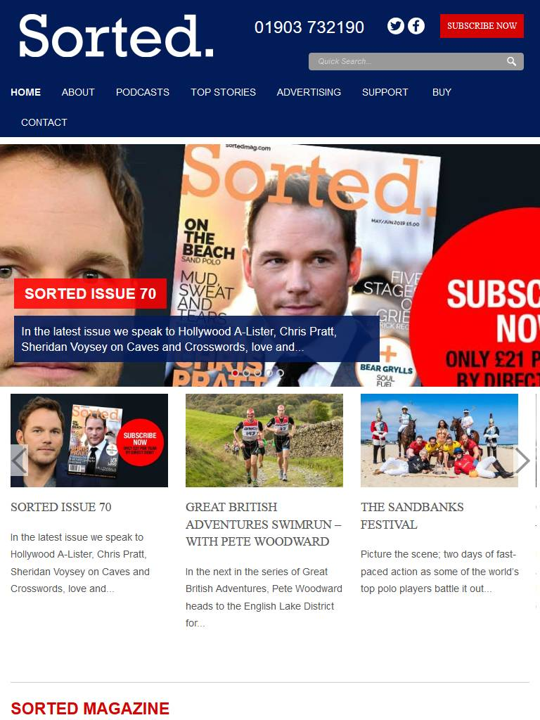 Sorted Magazine Tablet Screenshot