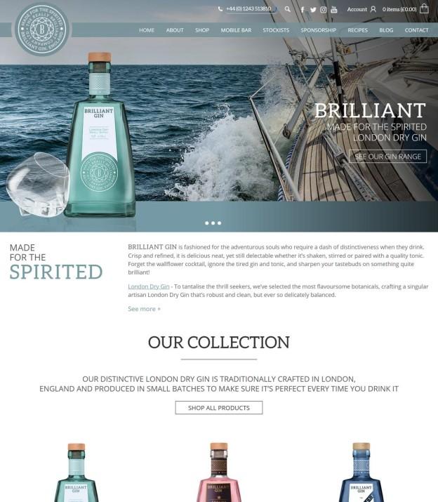 A Brilliant New Website for the Brilliant Gin Company!