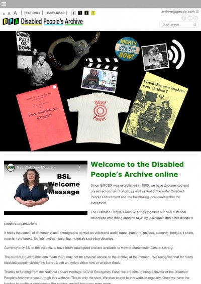 Disabled People's Archive - truly at the cutting edge of accessibility
