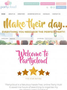 Partycloud! An award winning directory website!